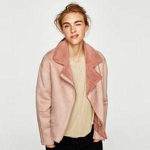 Brand New Zara Pink Suede Jacket